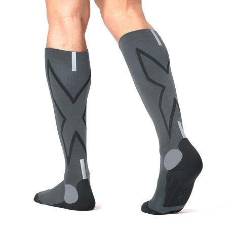 Hyoptik Compression Socks // Titanium + Black