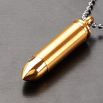 Bullet Capsule Necklace (Silver)