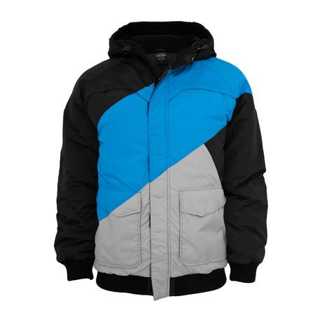 Zig Zag Fastlane Jacket // Black + Turquoise + Grey (S)