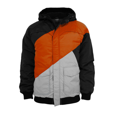 Zig Zag Fastlane Jacket // Black + Red + Grey (S)