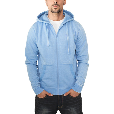 Burnout Zip Hoody // Sky Blue (S)