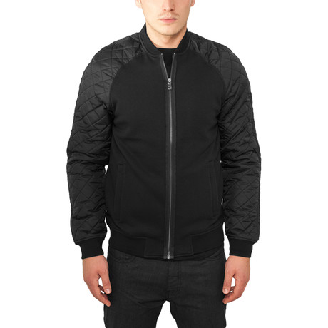 Diamond Nylon Sweatjacket // Black + Black (S)