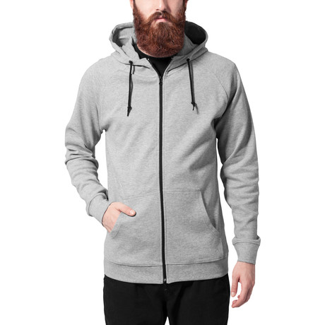 Heavy Interlock Raglan Zip Hoody // Grey (S)