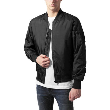 Tech Zip Bomber Jacket // Black (S)