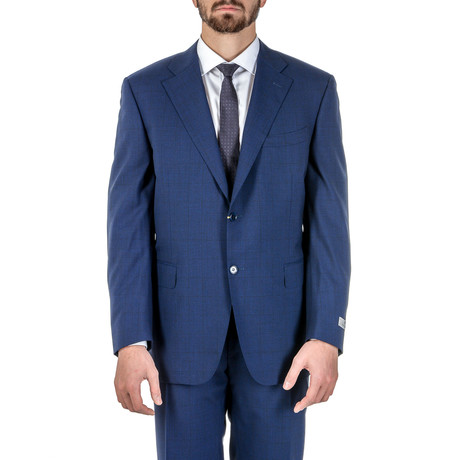 Zience Glen Plaid Suit // Blue (Euro: 56)
