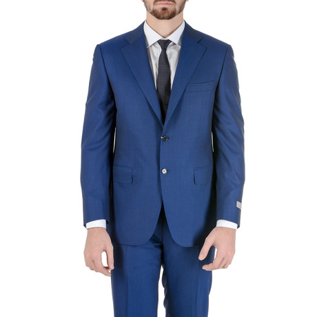 Koy Canali Striped Suit // Blue (Euro: 48)