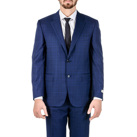Osworth Plaid Suit // Blue (Euro: 52)
