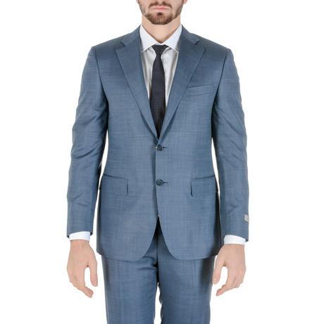 Redford Pinstripe Suit // Light Blue