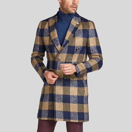 Phillipe Coat // Beige + Dark Blue (Euro: 44)