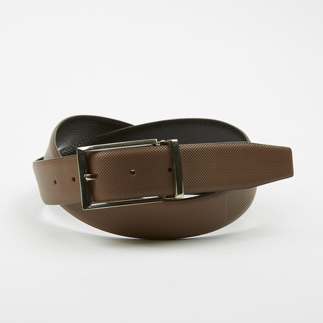 Adorjan Adjustable Belt // Textured Brown + Gunmetal Buckle