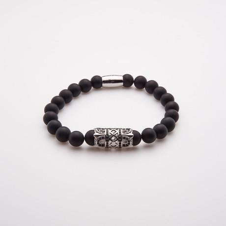 Onyx Beaded Bracelet // Matte Black