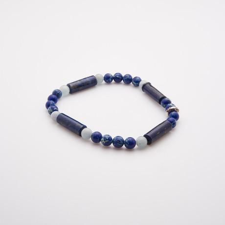 Blue Cone Polynesian Lapis Beads