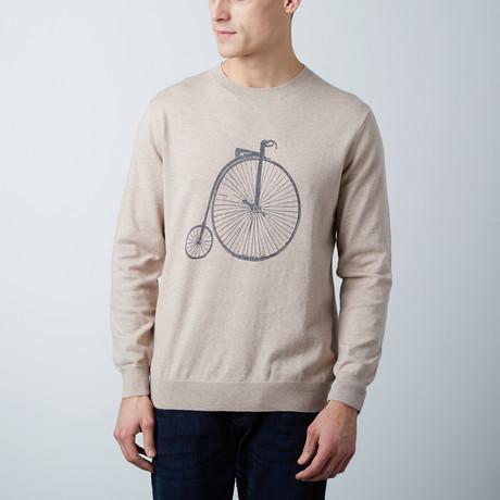 Loft 604 // Cashmere Blend Printed Sweater // Bike