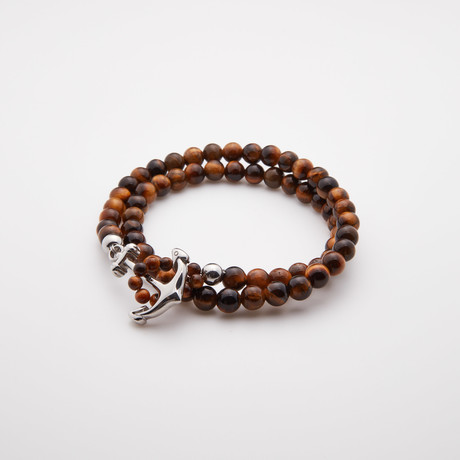 Double Wrap // Tiger Eye Stone
