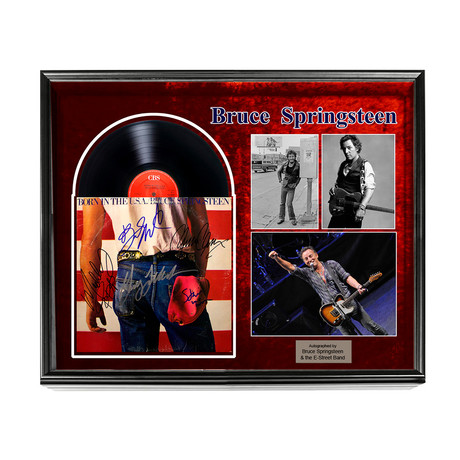 Autographed 'Born In The Usa' Album Collage // Bruce Springsteen