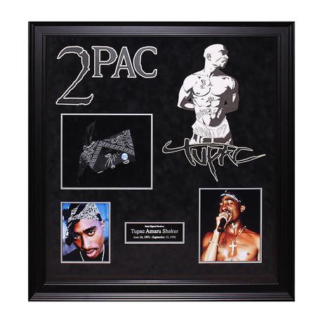 Autographed Bandana Collage // Tupac Shakur