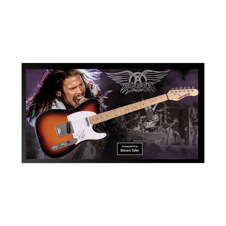Framed Autographed Guitar // Steven Tyler