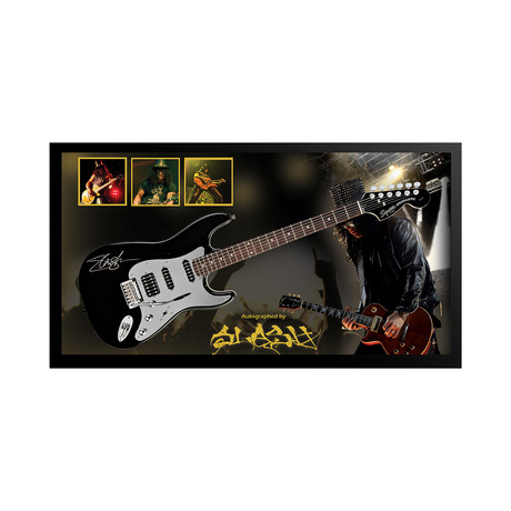 Framed + Autographed Guitar // Slash