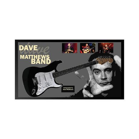 Framed + Autographed Guitar // Dave Matthews