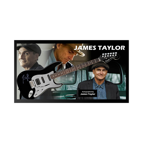 Framed + Autographed Guitar // James Taylor