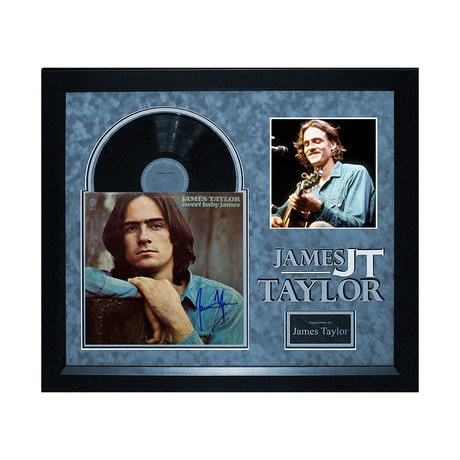 Autographed Album Collage // James Taylor I