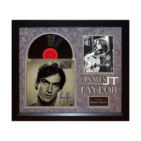 Autographed Album Collage // James Taylor II