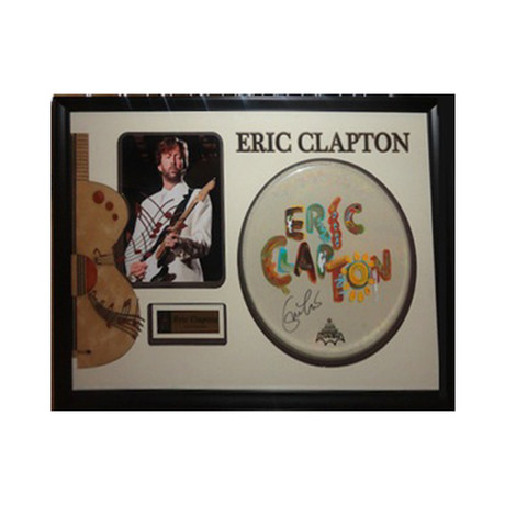 Autographed Drumhead Collage // Eric Clapton
