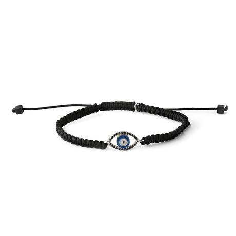 Evil Eye Macramé // Black Stone