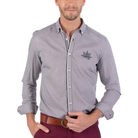 Hugh Button-Up Shirt // Gray (L)