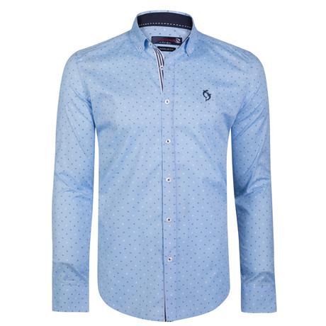 Montague Button-Up Shirt // Light Blue