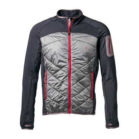 Severn Hybrid Wool Jacket // Antracite + Gull (L)