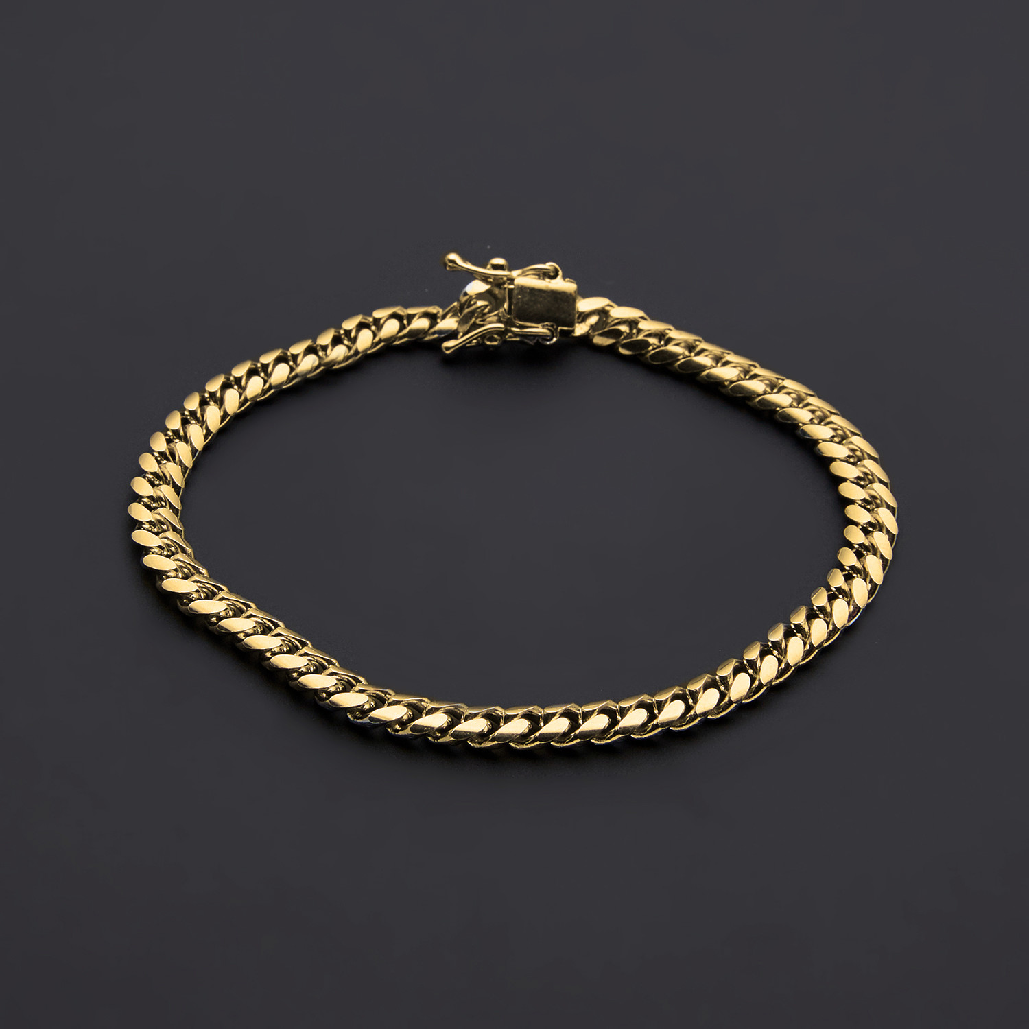 86cb6ff4b2697 Miami Cuban Link Chain Bracelet // Gold Plated