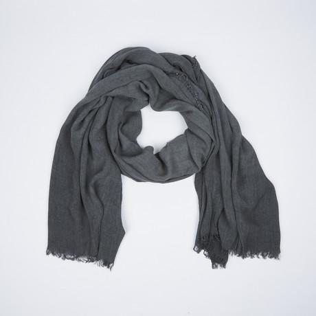 Vintage Wash Scarf // Grey