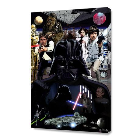Star Wars: A Long Time Ago In A Galaxy Far, Far Away… // Stretched Canvas