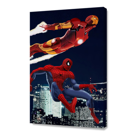 """Marvel // Spider-Man and Iron Man (12""""H x 8""""W x 0.75""""D)"""