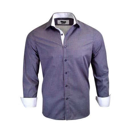 Kingsley Modern-Fit Dress Shirt // Navy (XL)