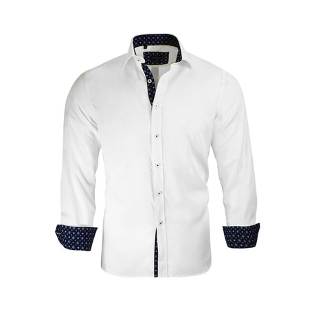 Jonathan Modern-Fit Dress Shirt // White