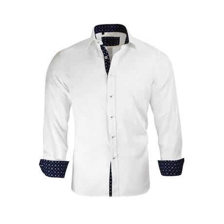Jonathan Modern-Fit Dress Shirt // White (M)