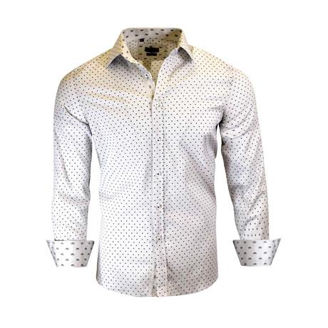 Bradley Modern-Fit Long-Sleeve Dress Shirt // White (S)