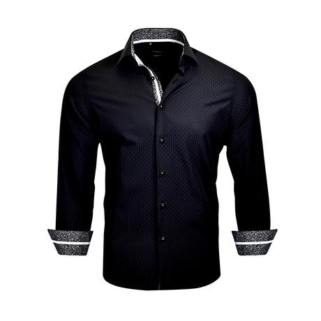 Thomas Modern-Fit Long-Sleeve Dress Shirt // Black (M)