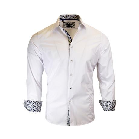 Charles Modern-Fit Long-Sleeve Dress Shirt // White (3XL)