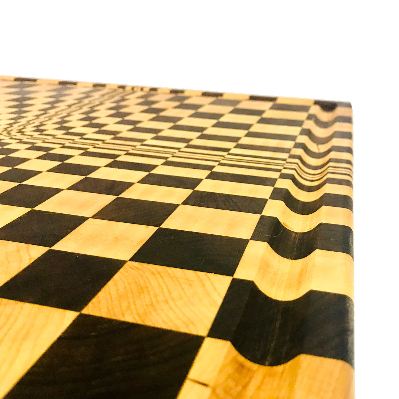 "3D Optical Point // Cutting Board (12""L X 12""W X 2""H)"
