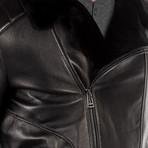 Cesare Leather Jacket // Black (XS)