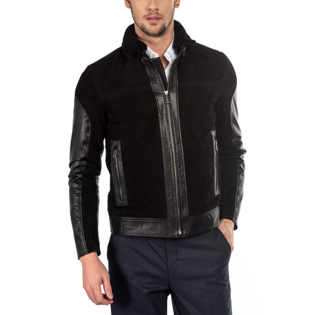 Gustavo Leather Jacket Slim Fit // Black (XS)