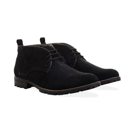 Suede Water Resistant Boot // Black (UK 7)