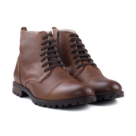 Fur Lined Boot // Tan (UK 7)
