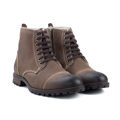 Fur Lined Boot // Brown (UK 7)