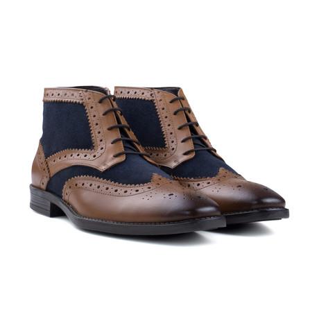 Navy Gatsby Boot // Tan (UK: 6)