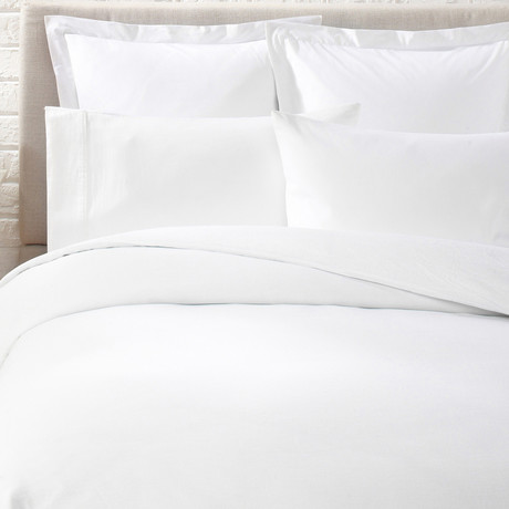 Linen Duvet Cover // White (Twin)