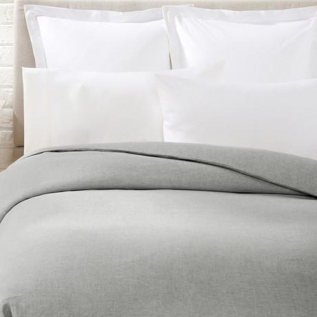 Linen Duvet Cover // Grey (Full/Queen)